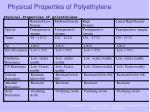 physical properties of polyethylene