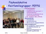 p sykoedukative fleirfamiliegrupper peffg