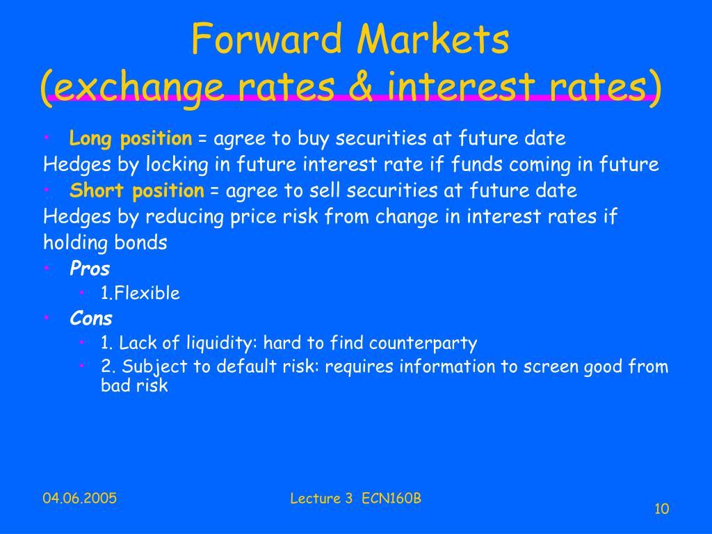 Forward Markets