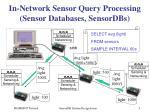in network sensor query processing sensor databases sensordbs