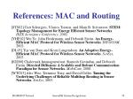 references mac and routing