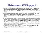 references os support