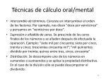 t cnicas de c lculo oral mental