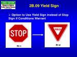 2b 09 yield sign