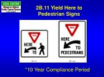 2b 11 yield here to pedestrian signs