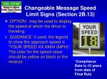 changeable message speed limit signs section 2b 13