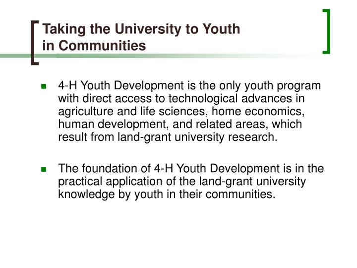 Taking the University to Youth