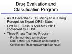 drug evaluation and classification program