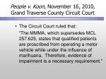 people v koon november 16 2010 grand traverse county circuit court
