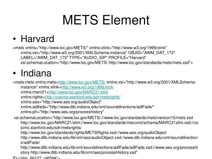 METS Element