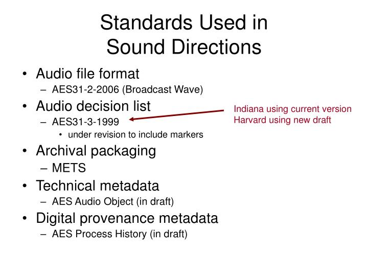 Standards Used in
