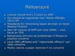 relicensure