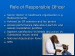 role of responsible officer