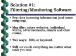 solution 1 filtering monitoring software