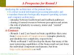 a prospectus for round 3