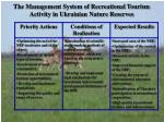 the management system of recreational tourism activity in ukrainian nature reserves