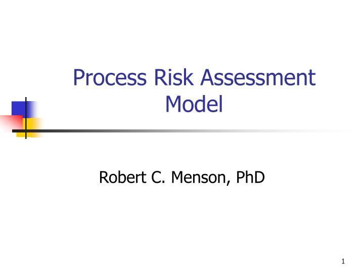 process risk assessment model n.