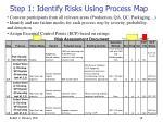 step 1 identify risks using process map