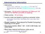 administrative information