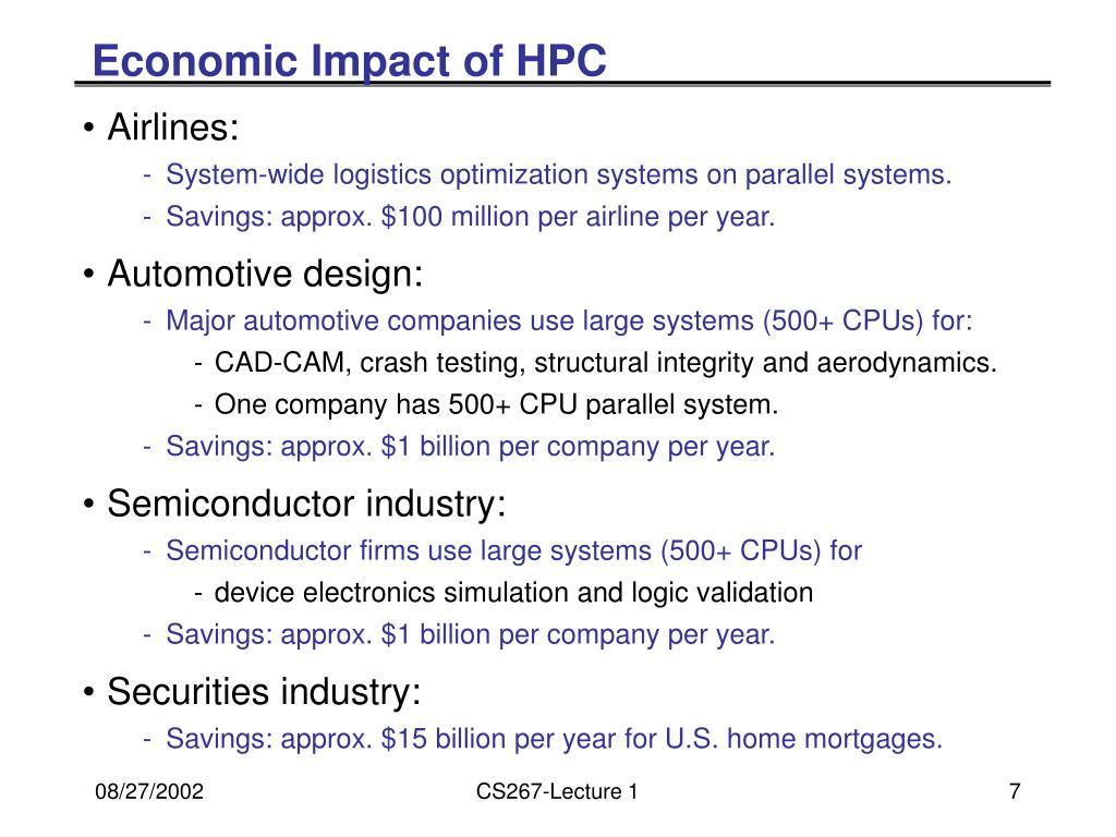 Economic Impact of HPC