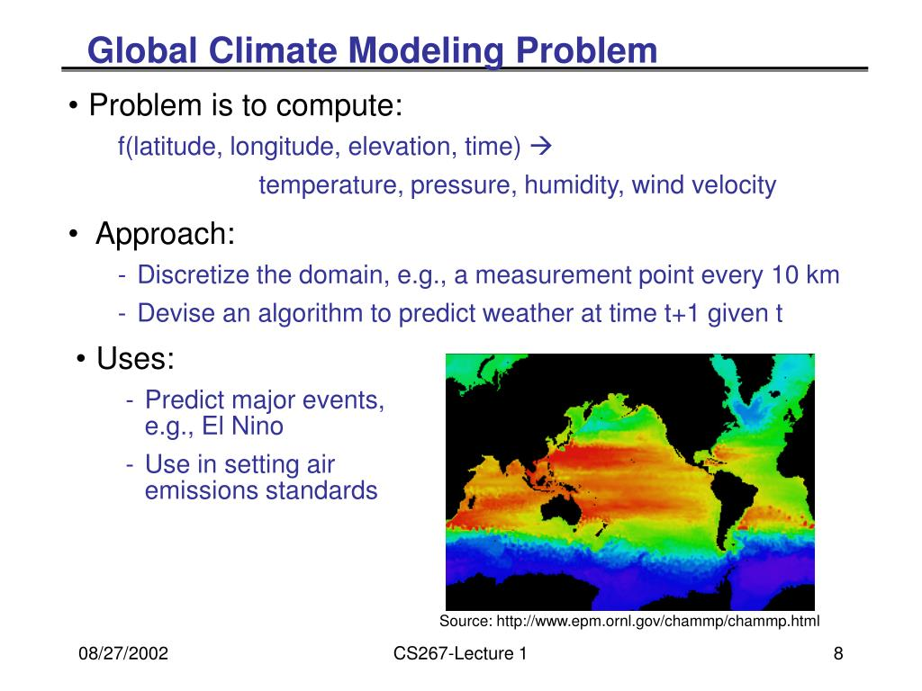 Global Climate Modeling Problem