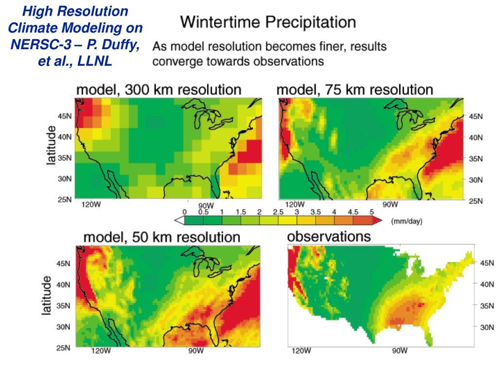 High Resolution Climate Modeling on NERSC-3 – P. Duffy, et al., LLNL