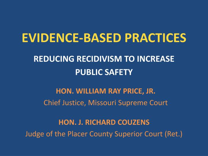 evidence based practices n.