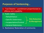 purposes of sentencing