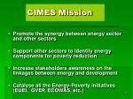 cimes mission