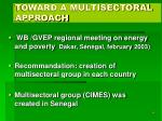 toward a multisectoral approach