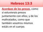 hebreos 13 3
