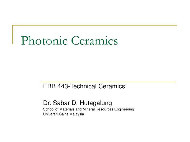 photonic ceramics n.