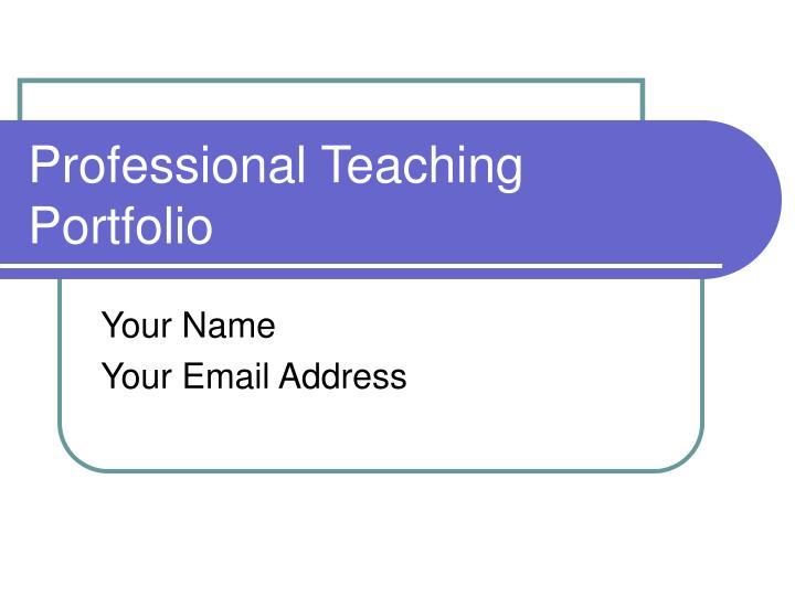 professional teaching portfolio n.