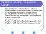 reflective practice professional growth