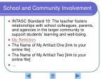 school and community involvement