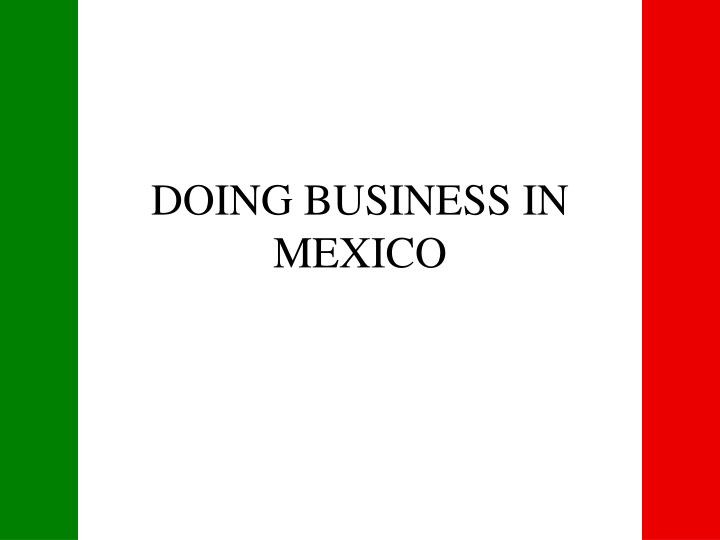 doing business in mexico n.