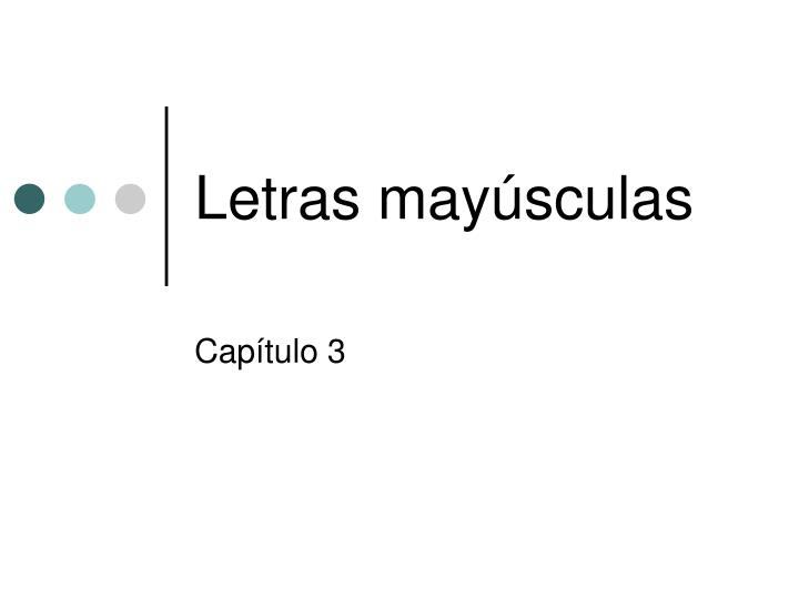 letras may sculas n.