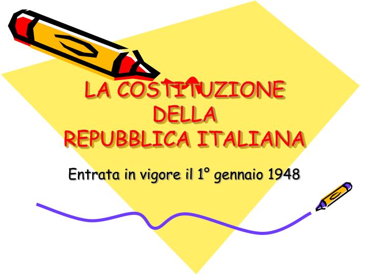 la costituzione della repubblica italiana n.