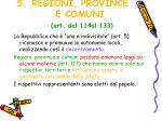 regioni province e comuni art dal 114al 133