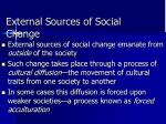 external sources of social change