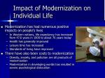 impact of modernization on individual life
