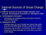 internal sources of social change