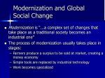 modernization and global social change