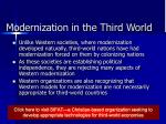 modernization in the third world