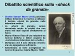dibattito scientifico sullo shock da granata