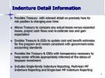 indenture detail information