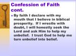 confession of faith cont