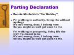 parting declaration