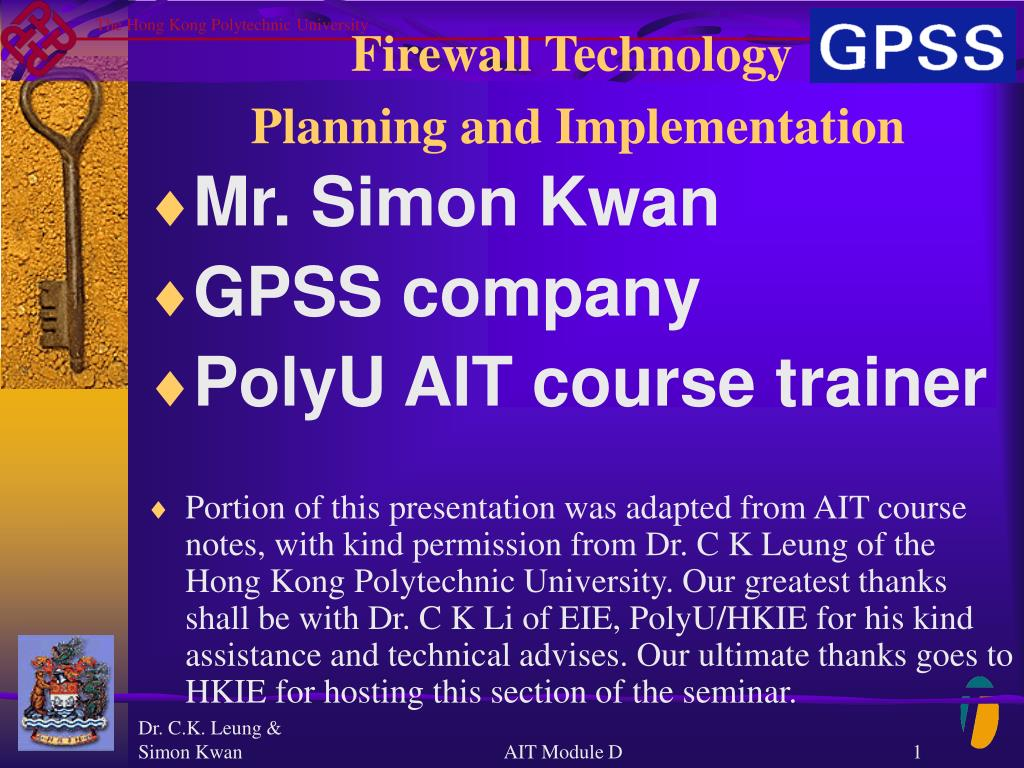 firewall technology planning and implementation l.