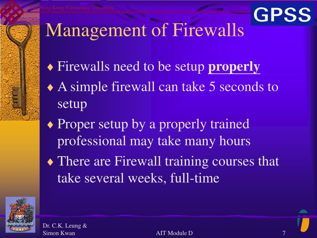 Management of Firewalls